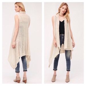 Angel of the North Lua Pointelle Long Knit Vest